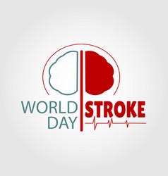 World stroke day vector