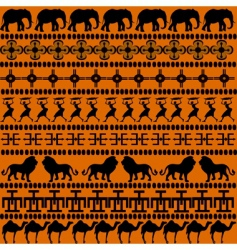 African symbols vector image vector image