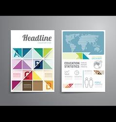 brochure flyer magazine cover booklet poster desig vector image vector image