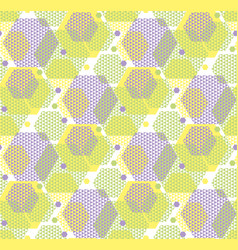 concept modern geometry hexagone pattern in green vector image