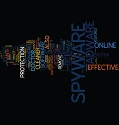 effective spyware and adware utilities text vector image vector image