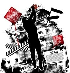 football grunge vector image vector image