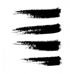 grunge paintbrushes vector image