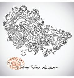 ornate flower design vector image vector image