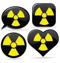 radioactive signs vector image vector image