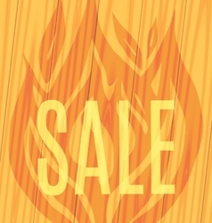 sale fire wooden planks background vector image vector image