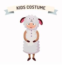 Sheep kid costume isolated vector image