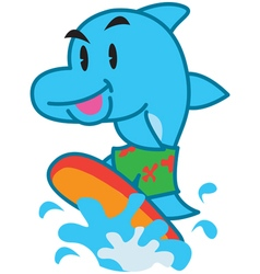 Surf Dolphin vector image