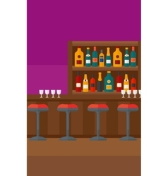 Background of bar counter vector image