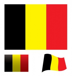 Belgium flag set vector image