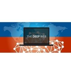 deep web dark net vector image vector image