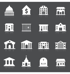 Government buildings icons vector image vector image