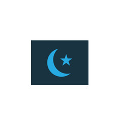 islam flag colorful icon symbol premium quality vector image vector image