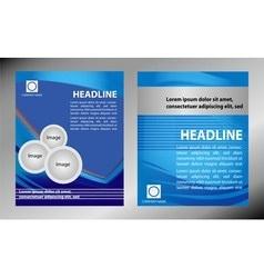 brochure flyer magazine cover poster te vector image vector image