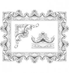 classic frame vector image vector image