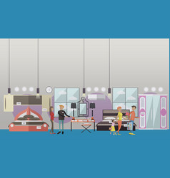 furniture store concept in vector image vector image