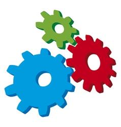 growing gears vector image vector image
