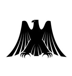 Imperial eagle with long trailing wing feathers vector