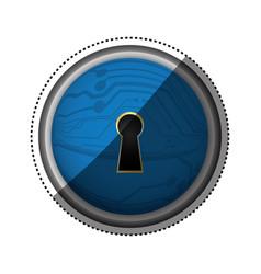 Security abstract lock digital vector