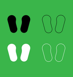 baby footprint in footwear icon black and white vector image