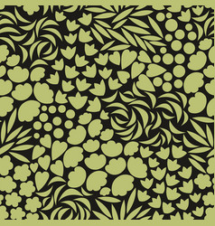 background with stylized floral elements vector image vector image