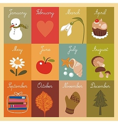 Calendar for children vector image vector image