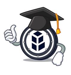 Graduation bancor coin character cartoon vector