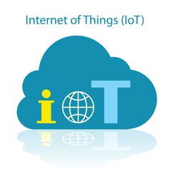IoT cloud icon vector image