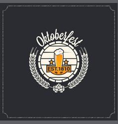 oktoberfest logo design background vector image