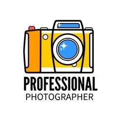 Photo studio or professional photographer logo vector image