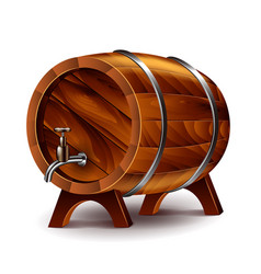wine barrel isolated on white vector image