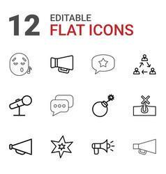 12 speech icons vector