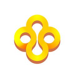 abstract golden precious jewellery logo ornament vector image