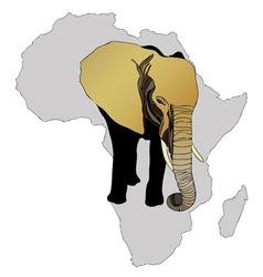 African elephant vector