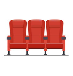 auditorium and seats in a movie theater vector image