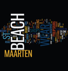 Beachcomber island fiji text background word vector
