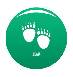 bear step icon green vector image