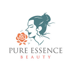 Beauty pure essence spa therapy logo design vector
