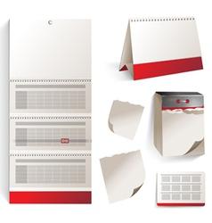 calendars set vector image