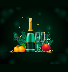 Card new year party design with elements vector
