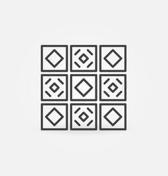 Ceramic tiles concept icon in line style vector