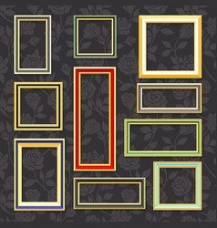classic picture frames vector image
