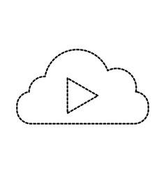 cloud computing play movie online vector image