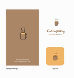 coffee company logo app icon and splash page vector image