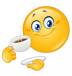coffee emoticon vector image vector image