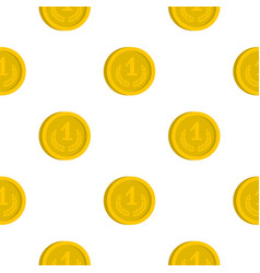 Coin pattern flat vector