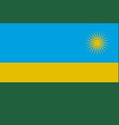 Colored flag of rwanda vector