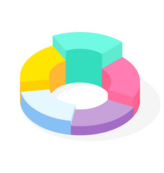 colorful business pie chart for documents vector image