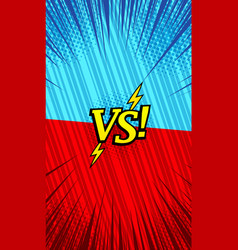 Comic bright duel vertical template vector