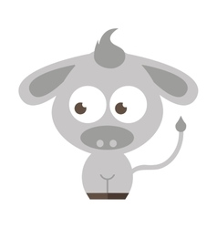 cute cartoon donkey icon vector image